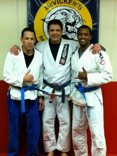 Chris, Jack and Larry Blue belt promotion